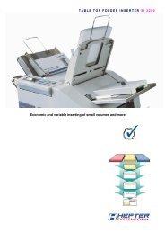Brochure SI 2250 - HEFTER Systemform