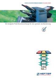 Prospekt SI 3300 - HEFTER Systemform