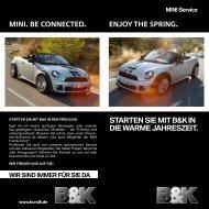 Enjoy thE spring. Mini. BE connEctEd. Starten Sie mit  B&K in die ...