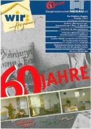 Ausgabe 1 / 2013 - Baugenossenschaft Hegau eG