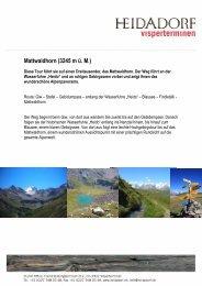 Mattwaldhorn Homepage