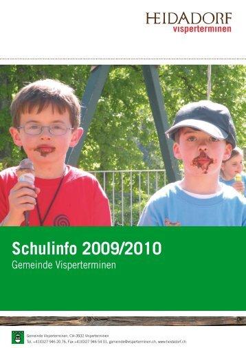 Schulinfo 2009/2010 - Gemeinde Visperterminen