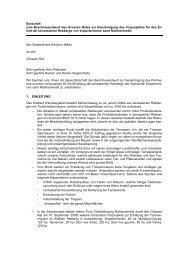 Botschaft zum Beschlussentwurf des Grossen Rates zur ...