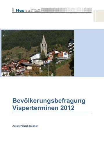 Bevölkerungsbefragung Visperterminen 2012 - Gemeinde ...