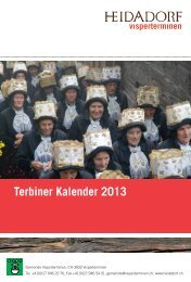 Terbiner Kalender 2013 - Gemeinde Visperterminen