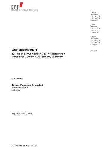 GrundlagenberichtFusionVisp 1 - Gemeinde Visperterminen