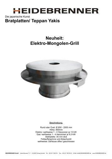 Elektro-Mongolen-Grill - HEIDEBRENNER GmbH