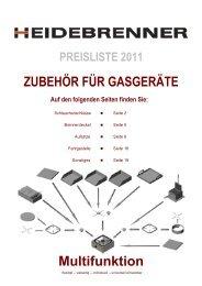 Preisliste 2011 - HEIDEBRENNER GmbH