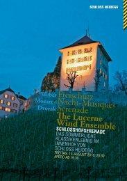 «Nacht-Musique» Freischütz Serenade The ... - Schloss Heidegg