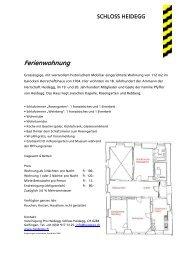 FLYER Ferienwohnung (pdf) - Schloss Heidegg