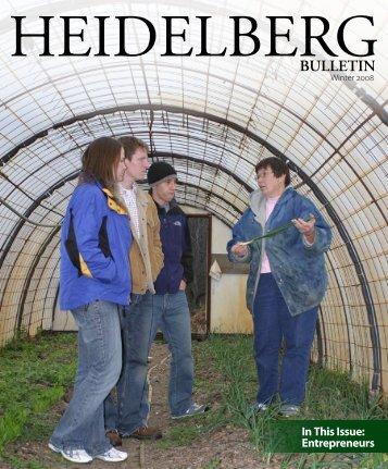 Vol. 40, Issue 1, Winter 2008 - Heidelberg University