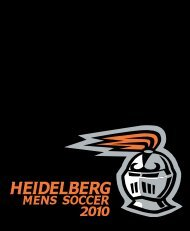 Men's Soccer Media Guide - Heidelberg University