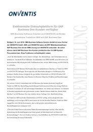 Elektronische Einkaufsplattform für SAP Business One Kunden ...