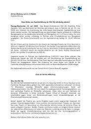 Ad-hoc-Meldung nach § 15 WpHG Kapitalerhöhung Neue Aktien ...