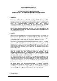 Algemene verkoopvoorwaarden - HeidelbergCement