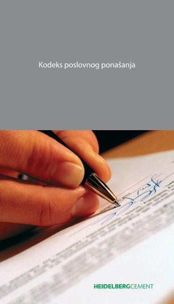 Kodeks poslovnog ponašanja - HeidelbergCement