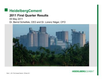 Conference call Q 1 - 5 May (PDF; 453 KB) - HeidelbergCement