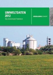 Umweltdaten 2012 - Das Zementwerk Paderborn - HeidelbergCement