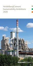HeidelbergCement Sustainability Ambitions 2020
