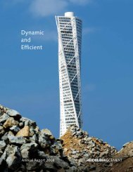 Annual Report 2008 - HeidelbergCement