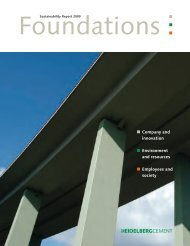 Sustainability Report 2009 - HeidelbergCement