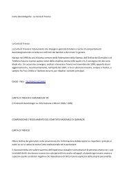 Carte deontologiche - La Carta di Treviso La Carta di ... - Tiscali