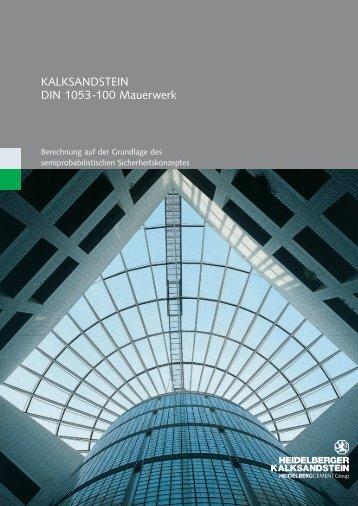 KALKSANDSTEIN DIN 1053 -100 Mauerwerk - Heidelberger ...