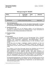 SV-Nr: 082/2005 - in der Gemeinde Heiden