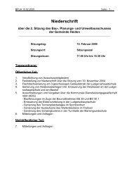 15.02.2005 Niederschrift Bau-, Planungs- und Umweltausschuss