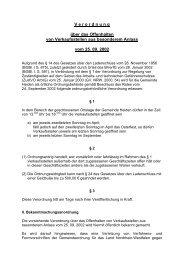 Verordnung über das Offenhalten von Verkaufsstellen - in der ...