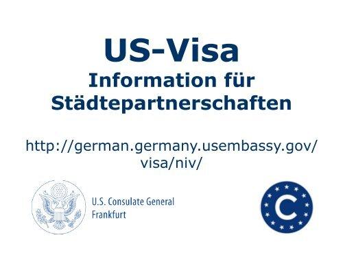 US-Visa Information für Städtepartnerschaften