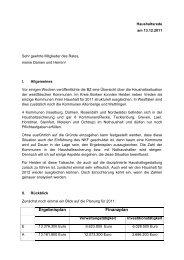 Haushaltsrede 2012 - in der Gemeinde Heiden