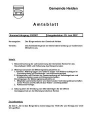 Amtsblatt - in der Gemeinde Heiden