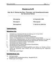 20.09.2005 Niederschrift BPAU - in der Gemeinde Heiden