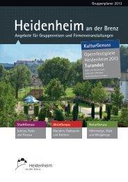 Angebote für Gruppenreisen - Stadt Heidenheim