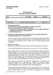 SV-Nr 099/2005 - in der Gemeinde Heiden