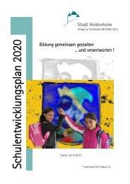 Schulentwicklungsplan 2020 - Stadt Heidenheim
