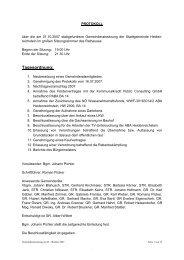 Gemeinderatssitzung 2007-10 (62 KB) - .PDF - Heidenreichstein