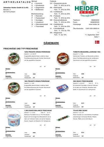 Dänemark (316 KB) - heiderbeck Käse vom Feinsten GmbH