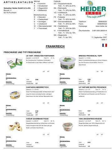 Frankreich (4,8 MB) - heiderbeck Käse vom Feinsten GmbH