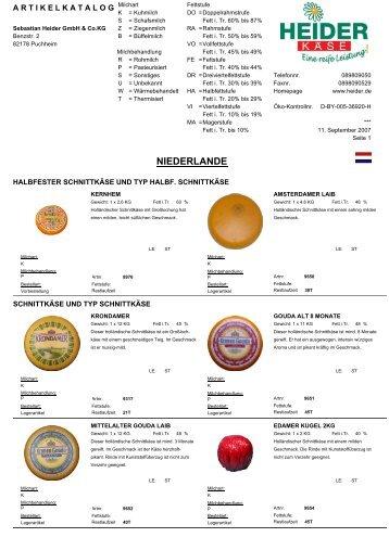Niederlande (428 KB) - heiderbeck Käse vom Feinsten GmbH