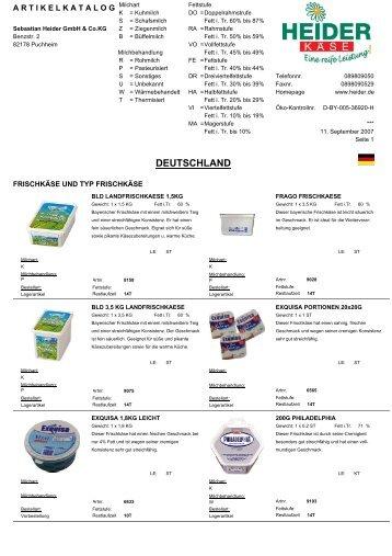 Deutschland (4,9 MB) - heiderbeck Käse vom Feinsten GmbH