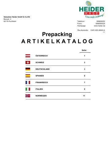 Prepacking - heiderbeck Käse vom Feinsten GmbH