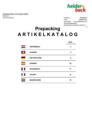 heiderbeck Käse vom Feinsten GmbH :: Prepacking-Artikel :: Stand ...