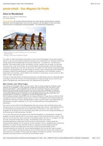 photovoltaik - Das Magazin für Profis - Heike Leitschuh