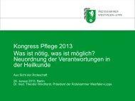 Windhorst, Theodor: Neuordnung der Verantwortungen ... - Heilberufe