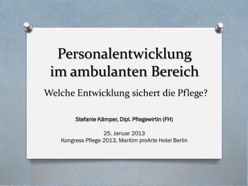 Personalentwicklung im ambulanten Bereich - Heilberufe