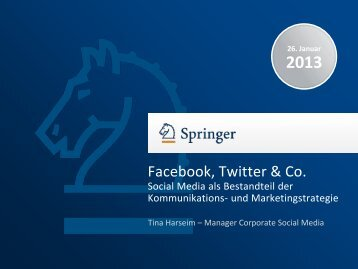 Social Media in Kommunikation und Marketing - Heilberufe