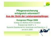Vortrag Pflege 2009 24. 01. 2009 - Heilberufe