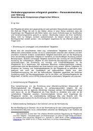 Neuordnung der Kompetenzen pflegerischen Wirkens - Heilberufe